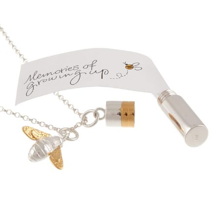 Silver Baby Gift Necklace & Memories Capsule