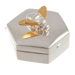 Silver Baby Birthday Christening Gift Trinket Box