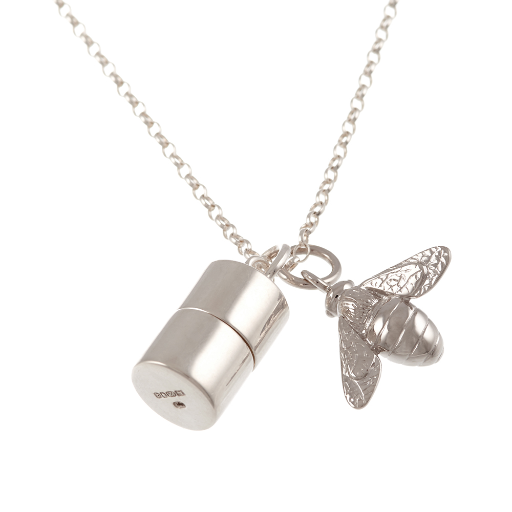 Silver Baby Christening Gift Necklace Amp Memories Capsule