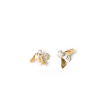 Gold Silver Stud Bee earrings