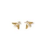 Gold Silver Vermeil drop Bee earrings
