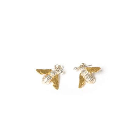 Gold Silver Vermeil drop Bee earrings