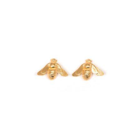 Gold vermeil bee stud earring v2 (1)