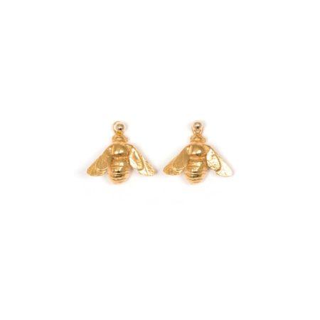 Gold Vermeil bee drop earrings v2 (1)