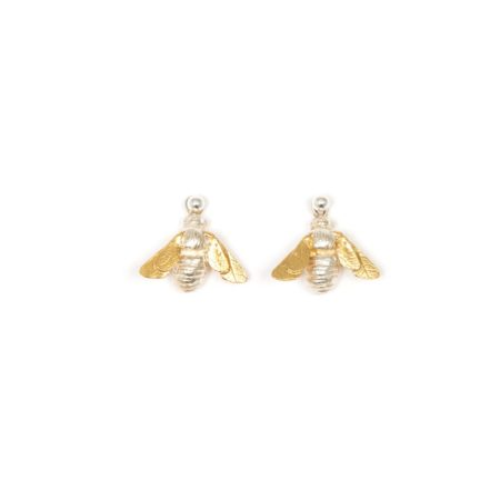 Silver and Gold hanging Bee earrings
