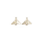 Silver Dangling Bee Earrings